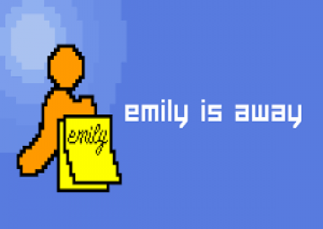 Emily is Away's cover